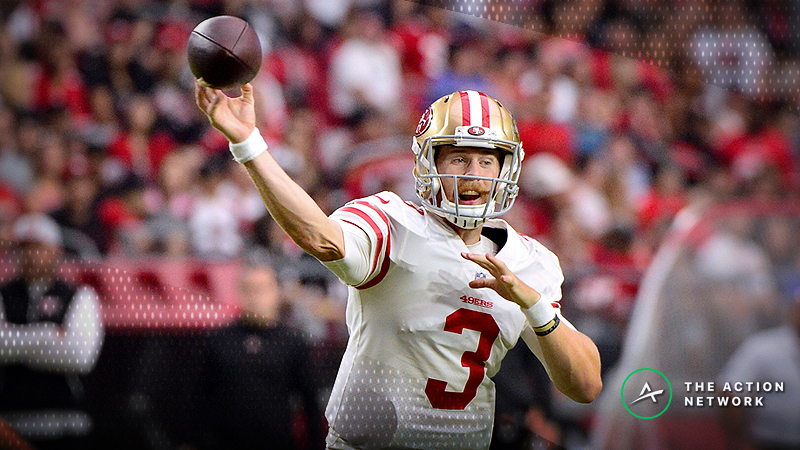 Beathard Injury News Moving Raiders-49ers Betting Line article feature image