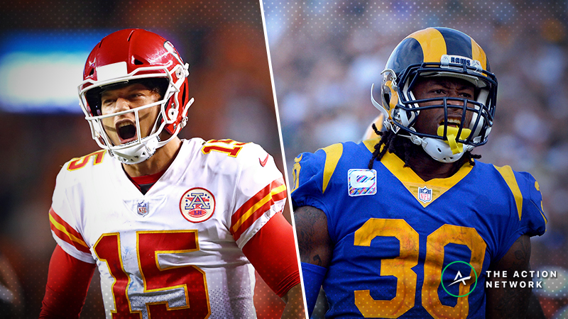 Chiefs-Rams Opens with Historically High Over/Under article feature image