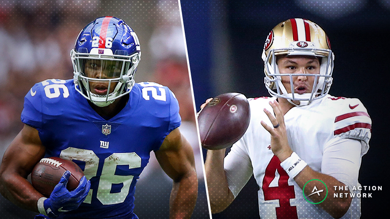 Giants-49ers MNF Betting Preview: Ride Nick Mullens as a Small Home Favorite? article feature image