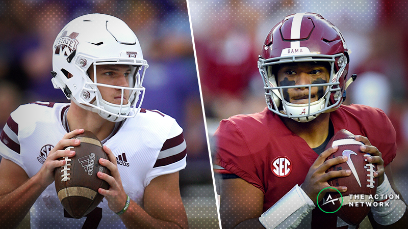 Alabama-Mississippi State Betting Guide: Are Bulldogs Still Being Undervalued? article feature image