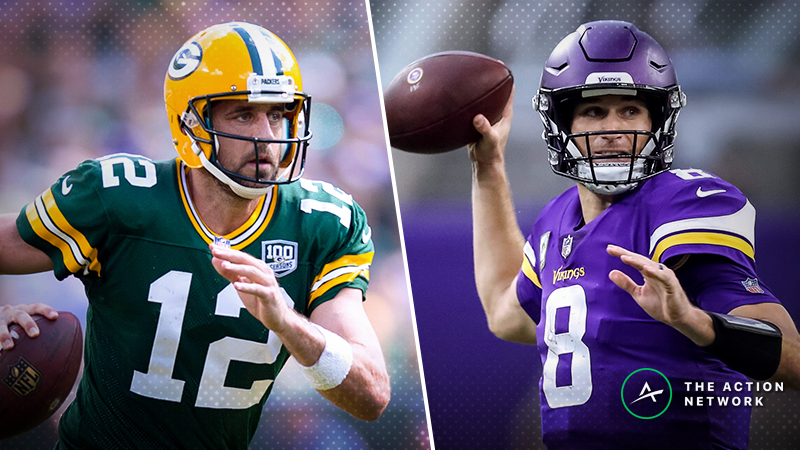 Packers-Vikings SNF Betting Preview: Back Aaron Rodgers as a Small Underdog? article feature image