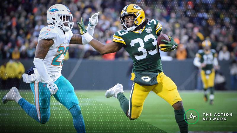 NFL Funnel Defense Ratings: The Aaron Jones Hype Train Rolls On in Week 11 article feature image