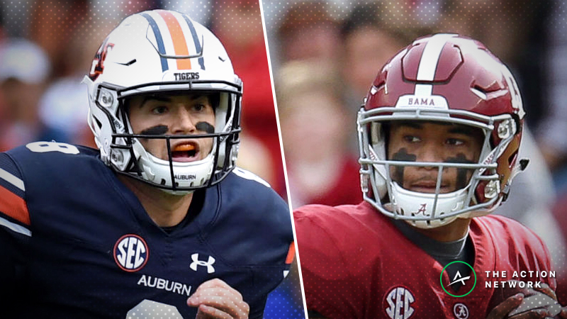 Auburn-Alabama Betting Odds: Tracking Iron Bowl Line Movement Until Kickoff article feature image