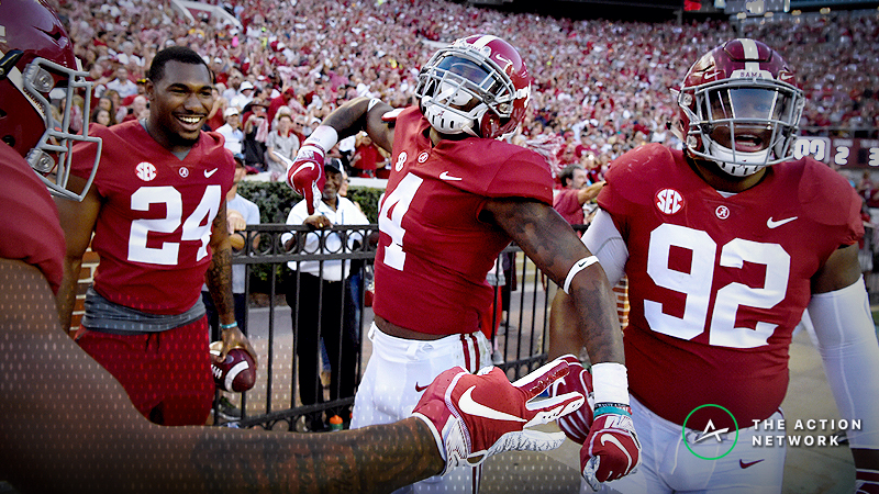 Alabama Opens a 7.5-Point First-Half Favorite at MGM article feature image