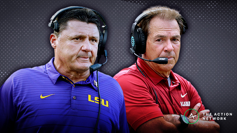 Our Staff's Favorite Bets for Alabama-LSU article feature image