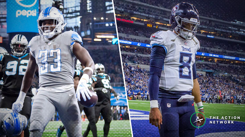 Week 12 NFL Injury Report: Kerryon Johnson, Marcus Mariota, More Fantasy Football Starters to Monitor article feature image
