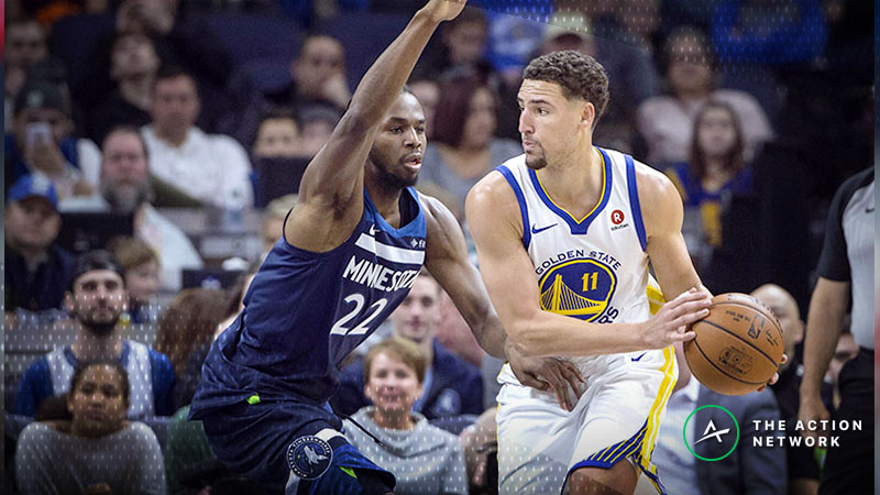Timberwolves-Warriors Featuring Highest NBA Over/Under Since 2009 article feature image