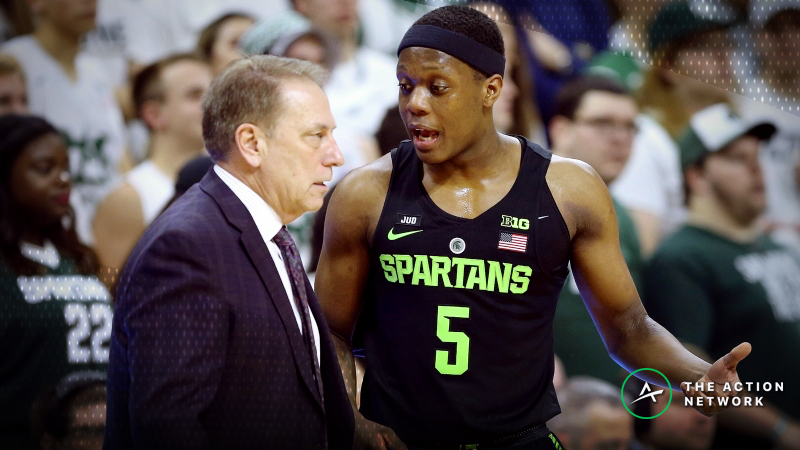 CBB Sharp Report: Pros Betting Michigan State-Kansas, 2 Other Tuesday Games article feature image
