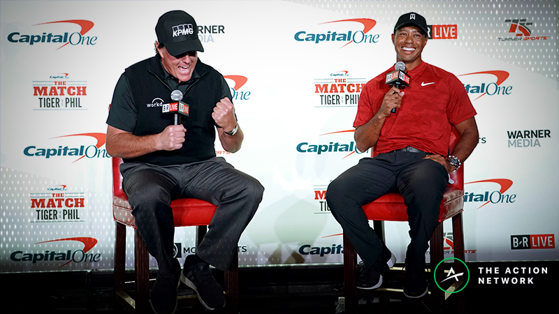 Tiger and Phil Waste No Time, Place $200K Side Bet on First Hole of 'The Match' article feature image