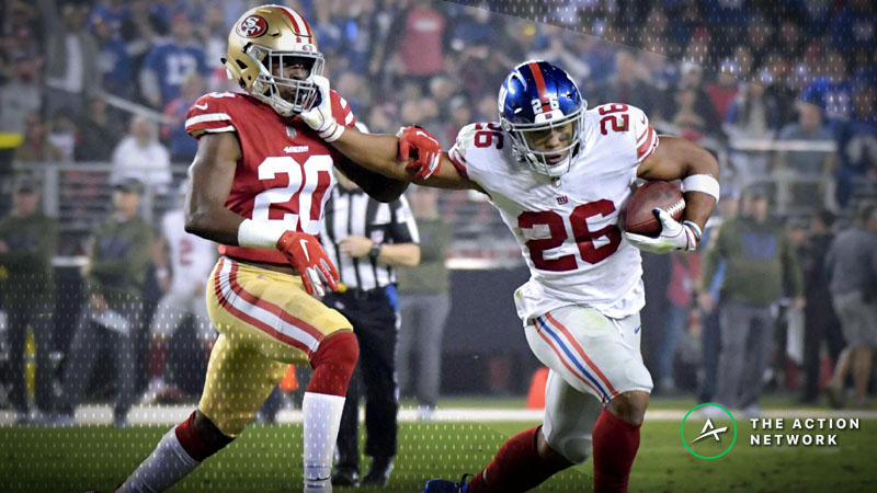 NFL Week 11 Fantasy RB Breakdown: Jam Saquon Barkley Into All Your Lineups article feature image