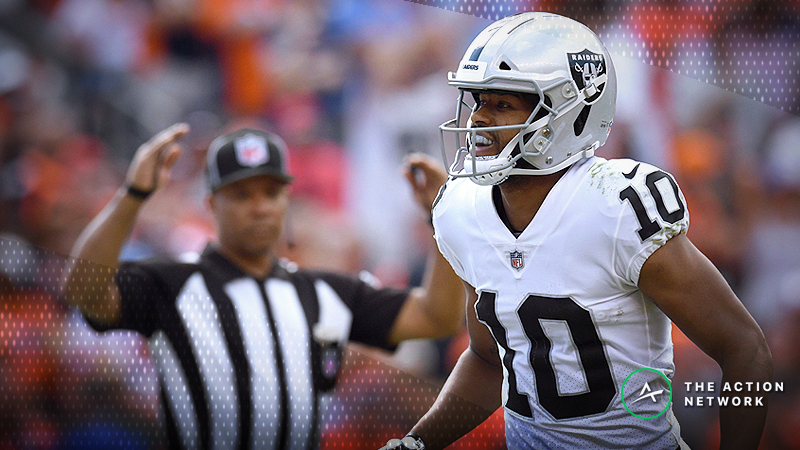Best Raiders-49ers TNF Player Props: Seth Roberts Over/Under 3 Receptions? article feature image