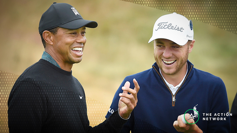 Sobel's Hero World Challenge Matchup Bets: Justin Thomas vs. Tiger Woods in Round 1? article feature image