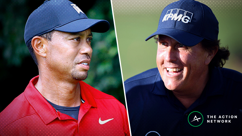 Tiger vs. Phil Betting Cheat Sheet: Odds, Picks, Storylines for 'The Match' article feature image