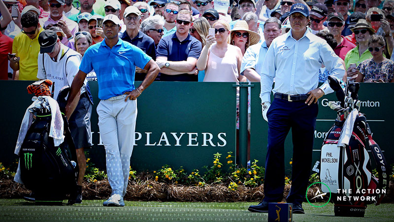 Tiger vs. Phil Odds: Line Movement, Props for 'The Match' article feature image
