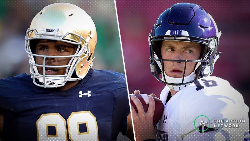Notre Dame-Northwestern Betting Guide: Line Moving in Irish's Favor article feature image