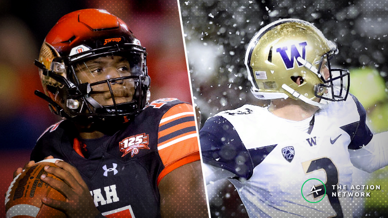 Pac-12 Championship Game Odds: Opening Spread for Washington-Utah article feature image