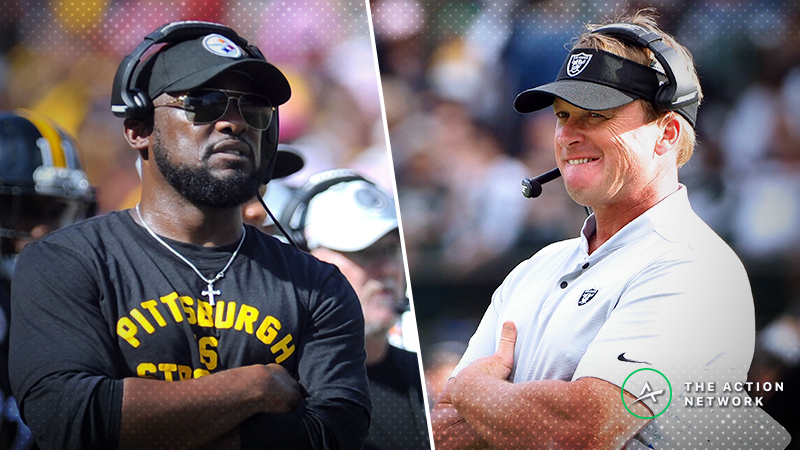 Steelers-Raiders Betting Preview: Can You Trust Pittsburgh to Cover This Lofty Spread? article feature image