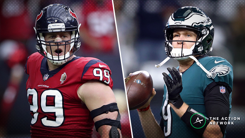 Texans-Eagles Betting Preview: Ride with Nick Foles, Philly off Big Win? article feature image