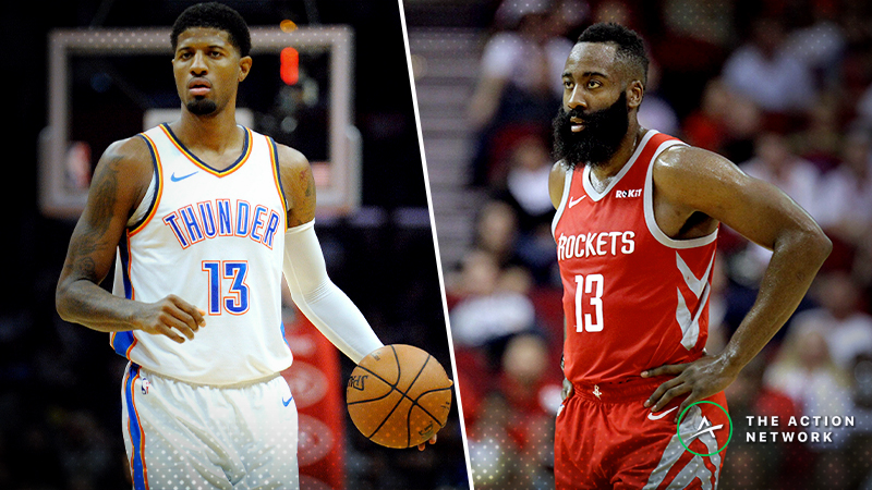 Thunder-Rockets Christmas Betting Guide: Will James Harden and Co. Struggle to Score? article feature image