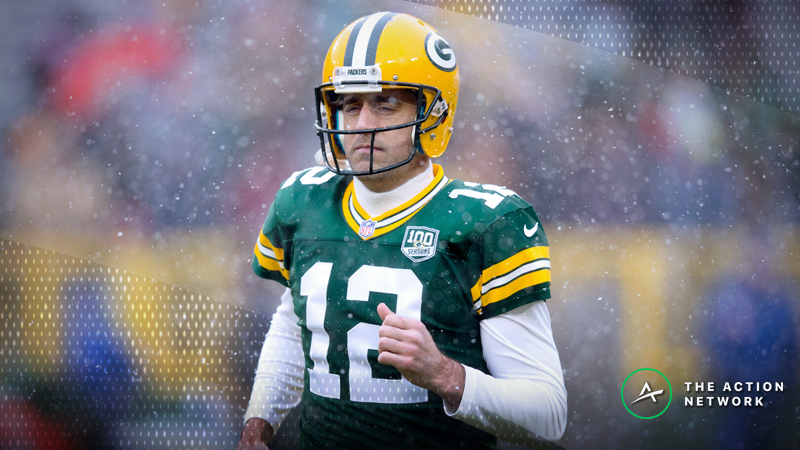 Lions-Packers Betting Preview: Weather Will Play a Big Role at Lambeau Field article feature image