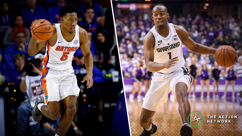 Saturday's College Basketball Betting Previews: Michigan State-Florida, Mississippi State-Clemson article feature image