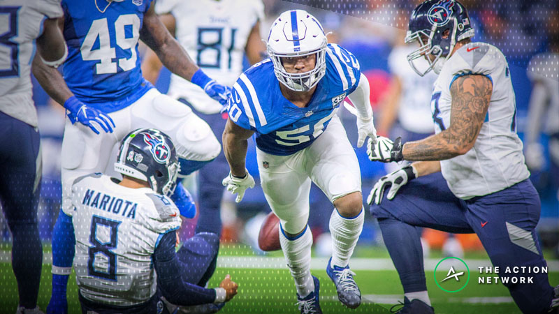 NFL Sharp Report: How Pros Are Betting Colts-Titans article feature image