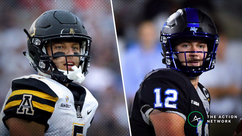 Appalachian State-Middle Tennessee Betting Guide: A Clear Motivated Side in New Orleans Bowl article feature image