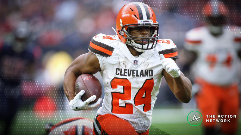 Fantasy Football RB Rankings Report: Nick Chubb Is in a Prime Spot Against Bengals article feature image
