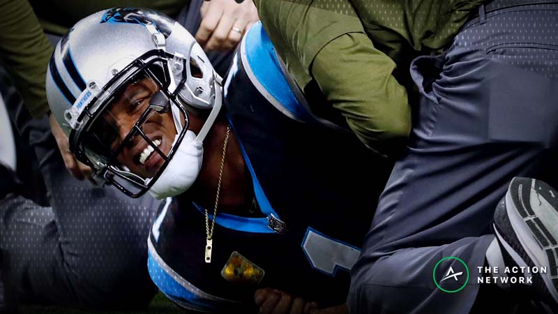Cam Newton Injury Flips Falcons to Favorites Over Panthers in Week 16 article feature image