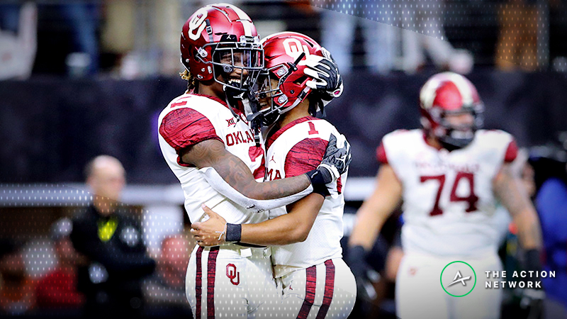 Oklahoma-Alabama Over/Under Highest Ever in College Football Playoff article feature image