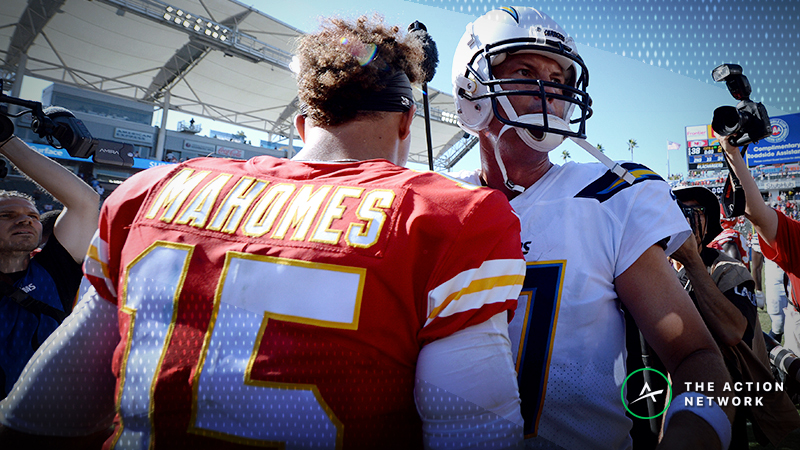 Early Week 15 NFL Odds: Chiefs Favored Over Chargers in Key Divisional Game article feature image