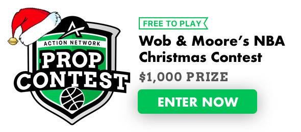 Wob And Moore Nba Christmas Prop Picks For Our 1 000 Contest The Action Network