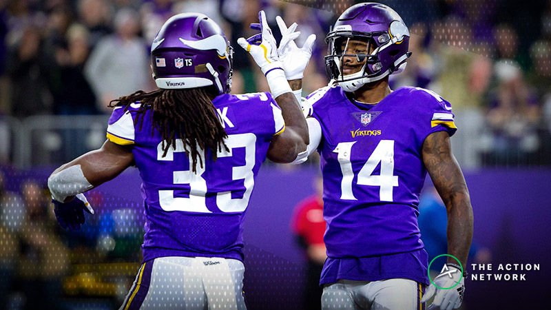 NFL Vegas Report: Oddsmakers Will Be Cheering for a Vikings Cover vs. Patriots article feature image