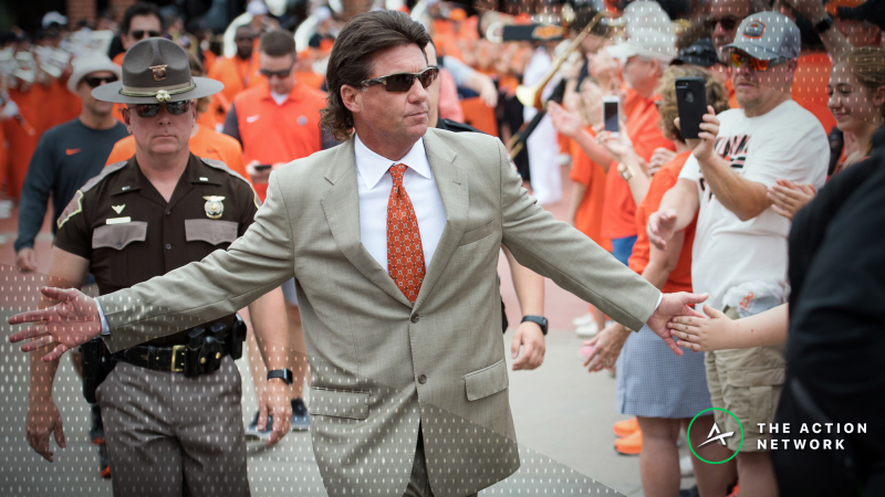 Mike Gundy Reimburses Bettor Who Lost Money on Oklahoma State Win Total article feature image