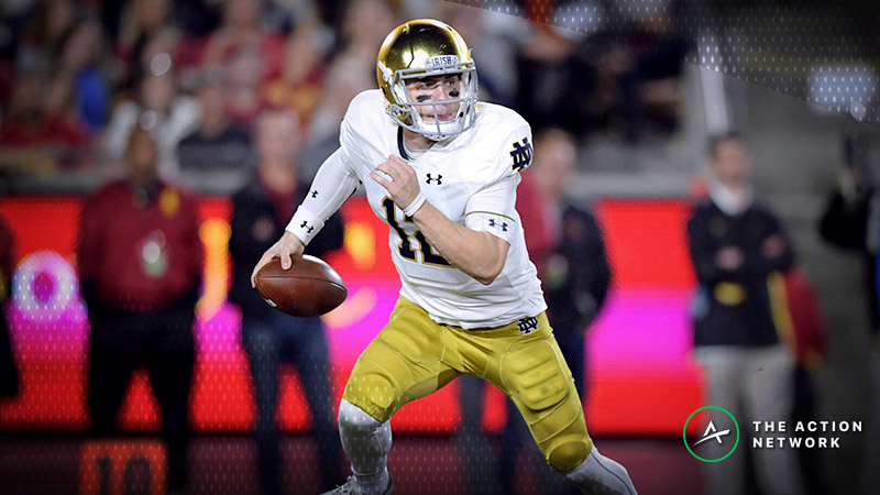 Early College Football Playoff Action: Bettors Backing the Irish Against Clemson article feature image