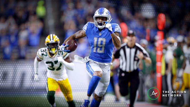 NFL Week 17 Fantasy WR Breakdown: Will Kenny Golladay Bounce Back vs. Packers? article feature image