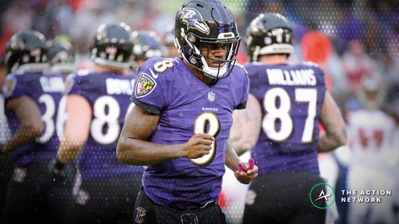 Betting Market Percentages Point to Sharp Play on Ravens-Chargers Spread article feature image