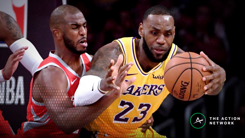 NBA Sharp Report: Pros Betting Lakers-Rockets, Mavs-Suns Thursday Night article feature image