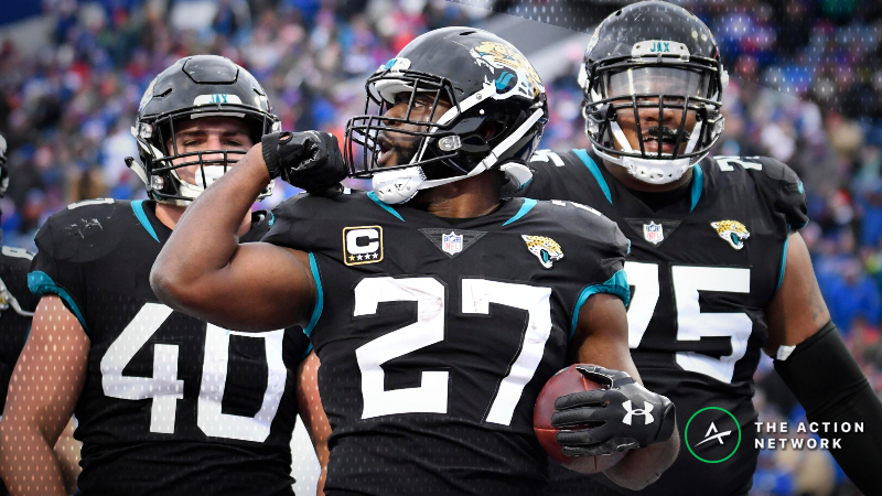 Best Jaguars-Titans TNF Props: Leonard Fournette Over/Under 82.5 Rushing Yards? article feature image