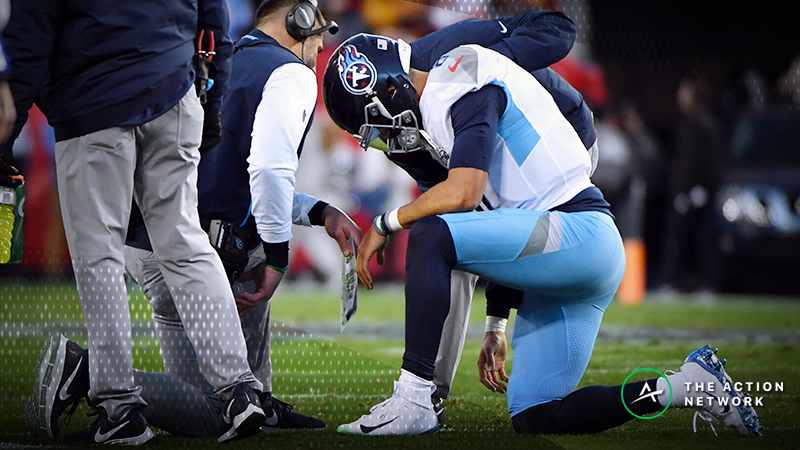 Marcus Mariota Injury Leaving Sportsbooks Exposed in Colts-Titans Matchup article feature image