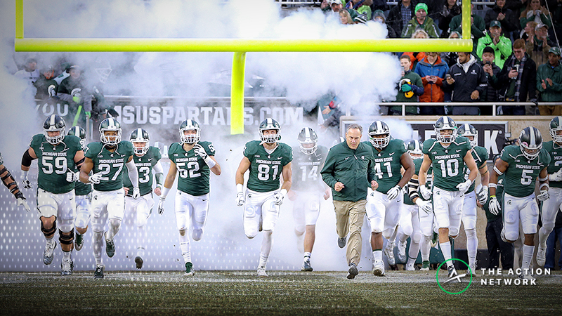 Michigan State-Oregon Odds: Windy Forecast Moving Redbox Bowl Betting Line article feature image