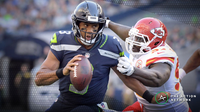 Best SNF Prop Bets for Chiefs-Seahawks: Can Bettors Bank on Russell Wilson's Arm? article feature image