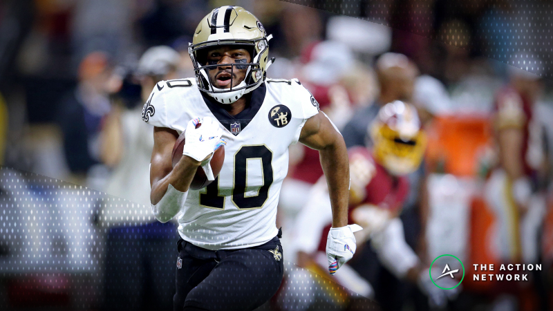 Best Saints-Panthers MNF Player Props: Tre'Quan Smith Over/Under 3.0 Receptions? article feature image