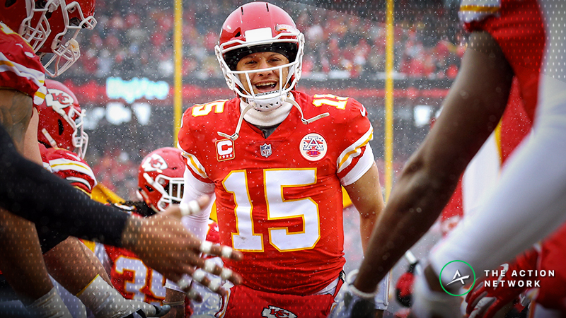 Money Flowing on Patriots-Chiefs Over/Under Thanks to Frigid Forecast article feature image