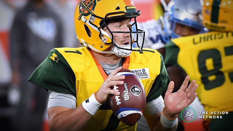 Atlanta Legends-Arizona Hotshots AAF Betting Guide: How to Play This with John Wolford's Status in Flux article feature image