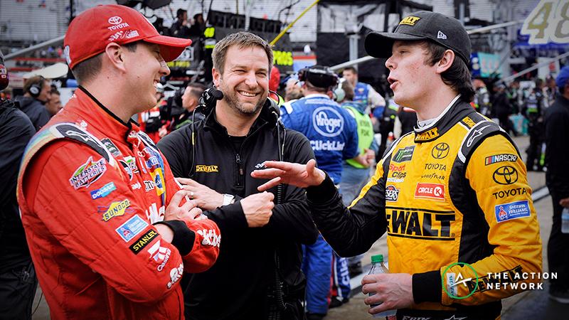 NASCAR Drivers Kyle Busch, Erik Jones Place Wager on Top-10 Finish Streak article feature image
