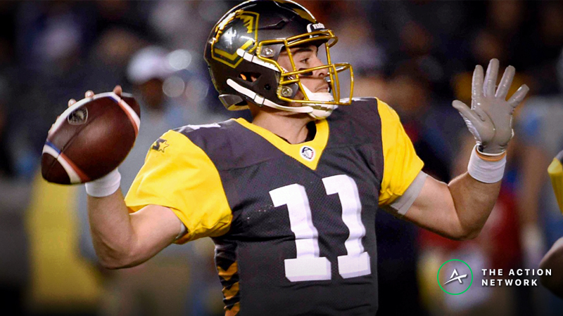 San Diego Fleet-Arizona Hotshots AAF Betting Guide: What's Next for the Mike Bercovici Experience? article feature image