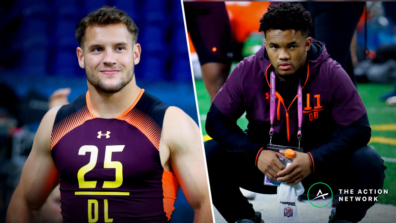 Nick Bosa, Kyler Murray Co-Favorites to be Selected No. 1 Overall in NFL Draft article feature image