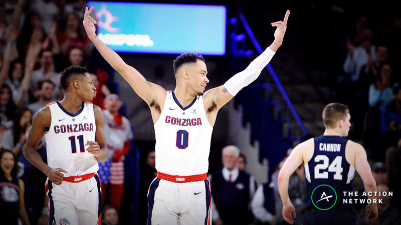 2019 West Coast Tournament Betting Odds, Preview: Heavily Favored Gonzaga Seeks Seventh Straight Title article feature image