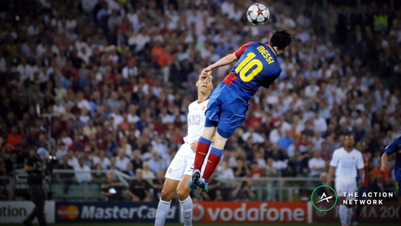 Champions League Quarterfinal Opening Odds: Barcelona Are Big Favorites Over Manchester United article feature image